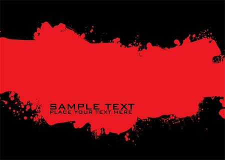 spilling blood texture - red and black ink splat background with room for copy Stock Photo - Budget Royalty-Free & Subscription, Code: 400-04126588