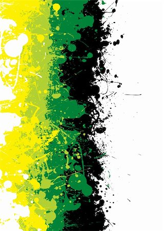 paint dripping graphic - Grunge ink splat background in green and yellow Stock Photo - Budget Royalty-Free & Subscription, Code: 400-04126593