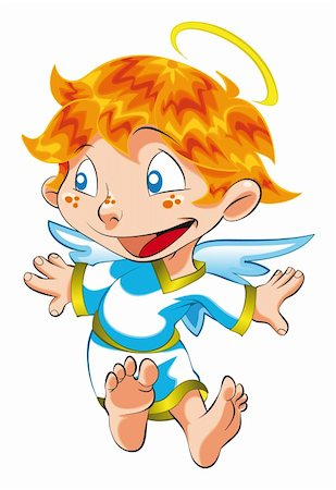 Little Angel , cartoon and vector character Stock Photo - Budget Royalty-Free & Subscription, Code: 400-04137504