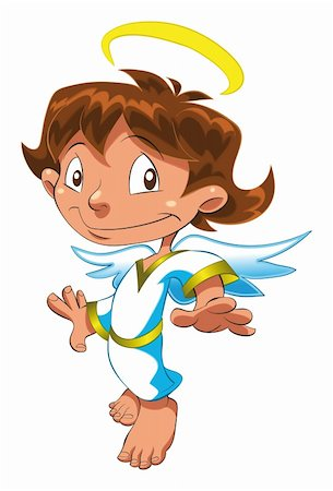 Little Angel , cartoon and vector character Stock Photo - Budget Royalty-Free & Subscription, Code: 400-04137505