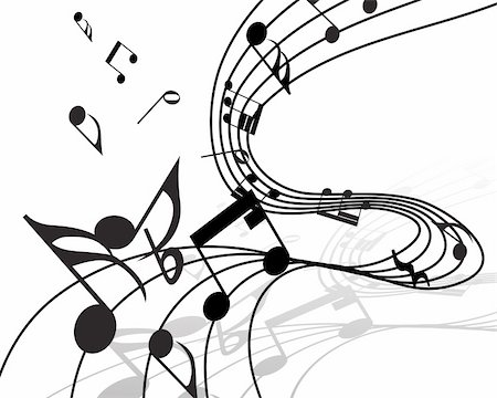 Vector musical notes staff background for design use Stock Photo - Budget Royalty-Free & Subscription, Code: 400-04137530