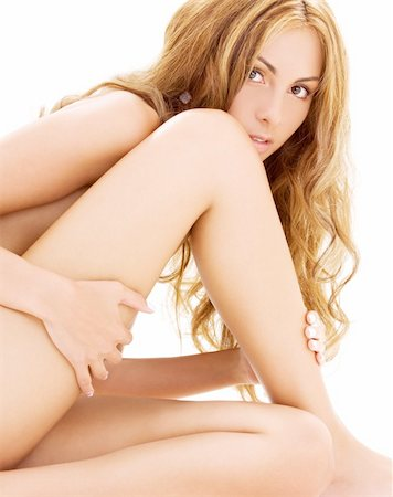 picture of healthy naked woman over white Stock Photo - Budget Royalty-Free & Subscription, Code: 400-04137892