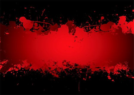 dripping splat - Bright red blood stream with abstract background effect with copyspace Stock Photo - Budget Royalty-Free & Subscription, Code: 400-04138400