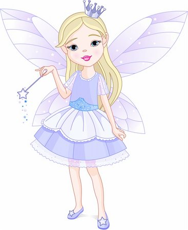 Cute little girl dressed up like fairy Stock Photo - Budget Royalty-Free & Subscription, Code: 400-04138748