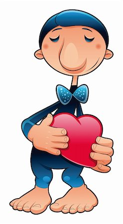 funny character in love, vector cartoon illustration Stock Photo - Budget Royalty-Free & Subscription, Code: 400-04131101