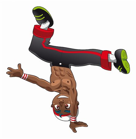 Break Dance, cartoon and vector character Stock Photo - Budget Royalty-Free & Subscription, Code: 400-04132446