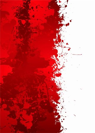 Blood splat border with red ink effect and room to add your own text Stock Photo - Budget Royalty-Free & Subscription, Code: 400-04133904
