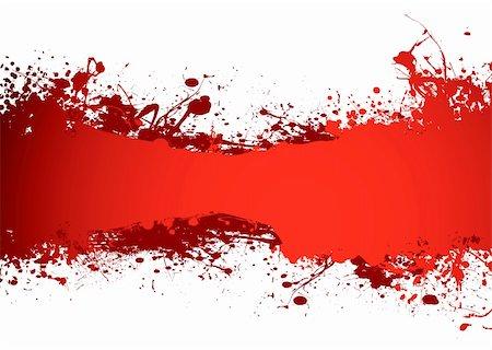 spilling blood texture - blood red grunge ink banner with room to add your own copy Stock Photo - Budget Royalty-Free & Subscription, Code: 400-04133902