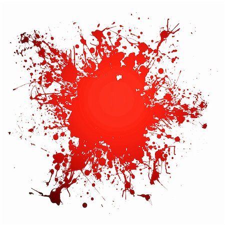 Red blood ink splat with room to add your own copy Stock Photo - Budget Royalty-Free & Subscription, Code: 400-04133903