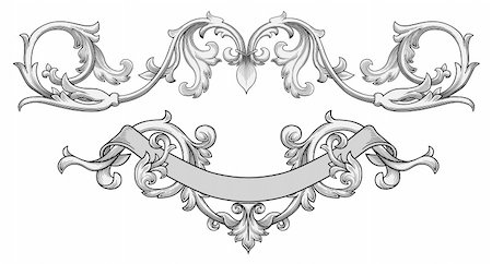 filigree tree - Ornate banner vector Stock Photo - Budget Royalty-Free & Subscription, Code: 400-04145127