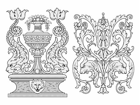 filigree - Royal deciration vector Stock Photo - Budget Royalty-Free & Subscription, Code: 400-04145156