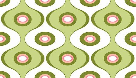 Vector illustration of elegant geometric retro motif wallpaper seamless Pattern Stock Photo - Budget Royalty-Free & Subscription, Code: 400-04141210