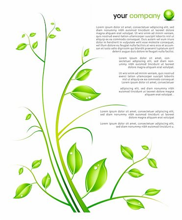 nature ornament design template - easy to edit vector EPS file Stock Photo - Budget Royalty-Free & Subscription, Code: 400-04142179