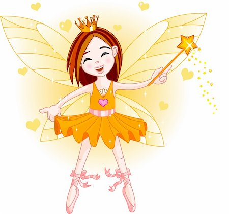 flying heart girl - Cute fairy ballerina flying . All objects are separate gruops Stock Photo - Budget Royalty-Free & Subscription, Code: 400-04142349