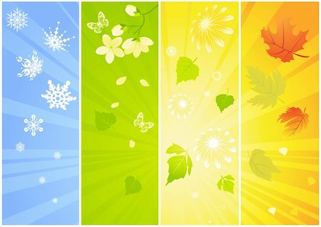 Four seasonal backgrounds Stock Photo - Budget Royalty-Free & Subscription, Code: 400-04143330