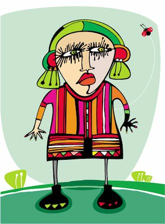 Cute angry girl outdoors Stock Photo - Budget Royalty-Free & Subscription, Code: 400-04154449