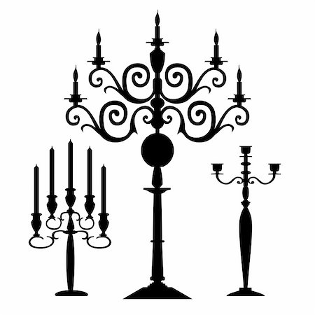 elakwasniewski (artist) - Candelabra vector set, full scalable vector graphic included Eps v8 and 300 dpi JPG. Stock Photo - Budget Royalty-Free & Subscription, Code: 400-04154484