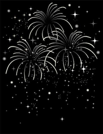 fireworks vector - Shimmer fireworks in a night sky background Stock Photo - Budget Royalty-Free & Subscription, Code: 400-04155645