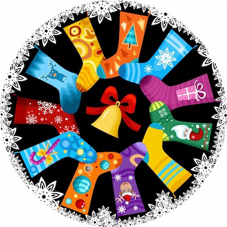vector illustration of a christmas stocking Stock Photo - Budget Royalty-Free & Subscription, Code: 400-04155936