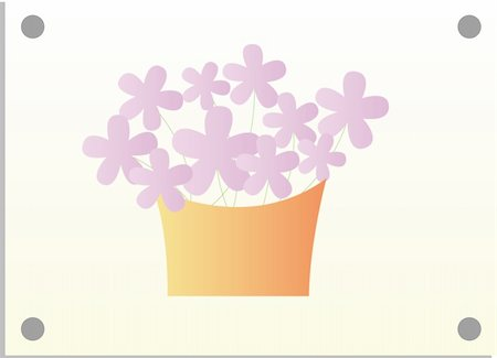 simsearch:400-04697977,k - illustration drawing of purple flower and basket in white background Stock Photo - Budget Royalty-Free & Subscription, Code: 400-04156108