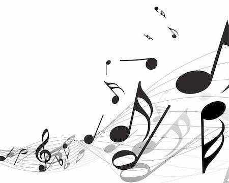 Vector musical notes staff background for design use Stock Photo - Budget Royalty-Free & Subscription, Code: 400-04156183