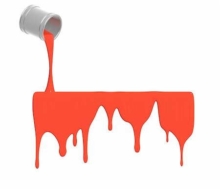 pouring paint art - Red paint pour out from bucket Stock Photo - Budget Royalty-Free & Subscription, Code: 400-04156908