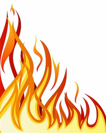 Inferno fire vector background for design use Stock Photo - Budget Royalty-Free & Subscription, Code: 400-04159166