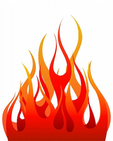 Inferno fire vector background for design use Stock Photo - Budget Royalty-Free & Subscription, Code: 400-04159163
