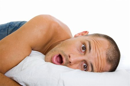 spanishalex (artist) - Man waking up and being surprised by what he finds next to him Stock Photo - Budget Royalty-Free & Subscription, Code: 400-04159860