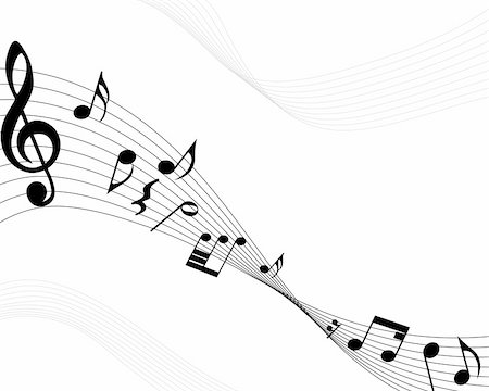 Vector musical notes staff background for design use Stock Photo - Budget Royalty-Free & Subscription, Code: 400-04159908