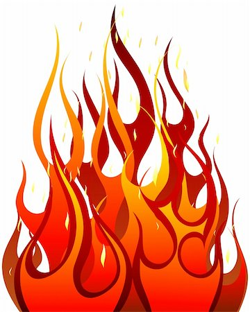 Inferno fire vector background for design use Stock Photo - Budget Royalty-Free & Subscription, Code: 400-04159901