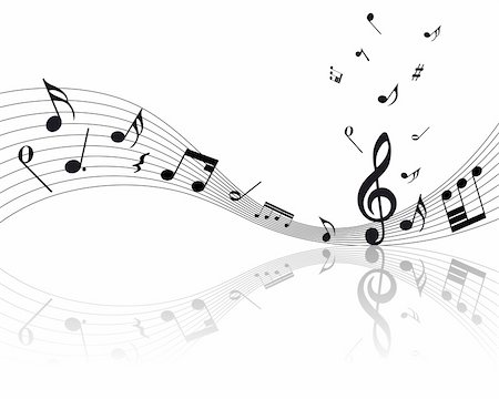 Vector musical notes staff background for design use Stock Photo - Budget Royalty-Free & Subscription, Code: 400-04159910