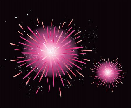 New Year celebration. Stylized fireworks. Vector Illustration. Stock Photo - Budget Royalty-Free & Subscription, Code: 400-04150524