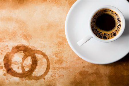 spanishalex (artist) - Coffee Cup on old paper with stains Stock Photo - Budget Royalty-Free & Subscription, Code: 400-04153061