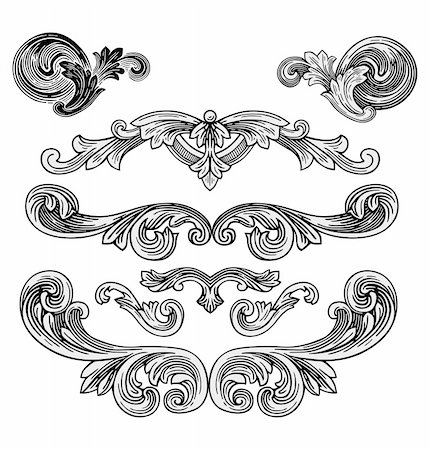 filigree - Design elements vector Stock Photo - Budget Royalty-Free & Subscription, Code: 400-04153184
