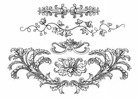 filigree tree - Design elements vector Stock Photo - Budget Royalty-Free & Subscription, Code: 400-04153183