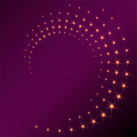 Background with a purplish spiral of sparks. Graphics are grouped and in several layers for easy editing. The file can be scaled to any size. Stock Photo - Budget Royalty-Free & Subscription, Code: 400-04164296