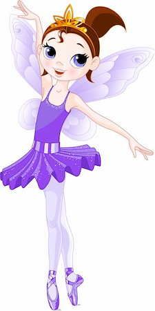 Violet  Cute fairy ballerina. Wings and glitter are separate groups. Stock Photo - Budget Royalty-Free & Subscription, Code: 400-04166508