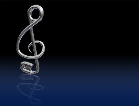 Illustration of a safety pin bent into the shape of a musical symbol Stock Photo - Budget Royalty-Free & Subscription, Code: 400-04169799