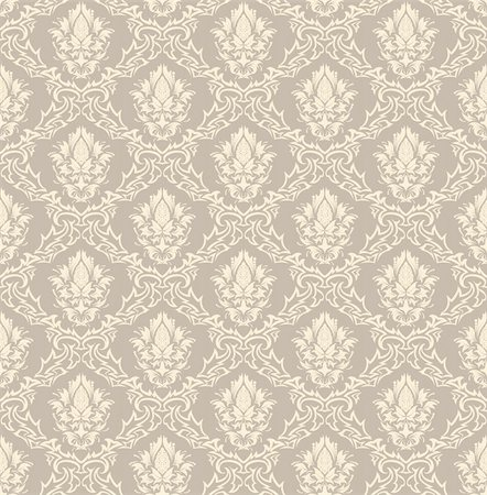 Damask seamless vector background.  For easy making seamless pattern just drag all group into swatches bar, and use it for filling any contours. Stock Photo - Budget Royalty-Free & Subscription, Code: 400-04160397