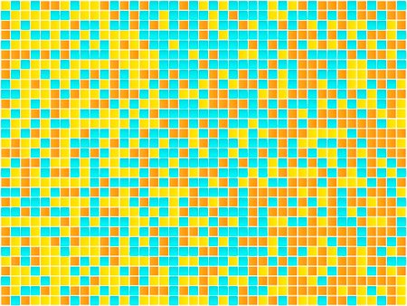 simsearch:400-05245734,k - Orange, Yellow and Blue Mosaic. Vector Image Stock Photo - Budget Royalty-Free & Subscription, Code: 400-04161764