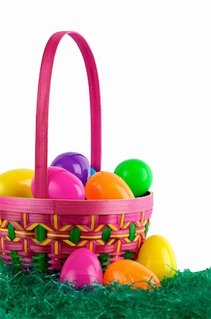 Image of Easter basket with colored eggs Stock Photo - Budget Royalty-Free & Subscription, Code: 400-04161887