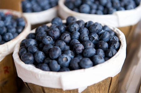 Blueberries in a basket on a market stall Stock Photo - Budget Royalty-Free & Subscription, Code: 400-04161970