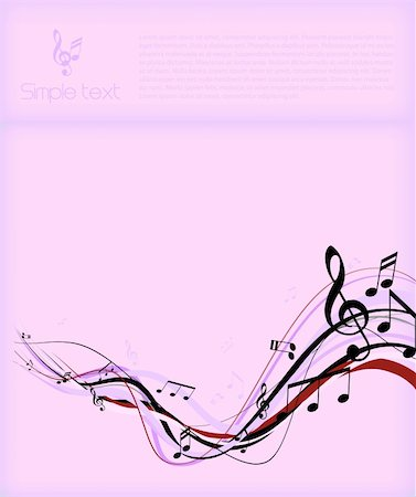 swirling music sheet - Abstract illustration with notes and place for your own text. Stock Photo - Budget Royalty-Free & Subscription, Code: 400-04162067