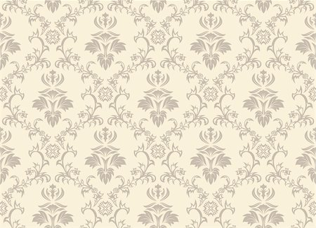 Damask seamless vector background.  For easy making seamless pattern just drag all group into swatches bar, and use it for filling any contours. Stock Photo - Budget Royalty-Free & Subscription, Code: 400-04162987