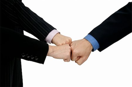 Image of three hands in a team building knuckle bump Stock Photo - Budget Royalty-Free & Subscription, Code: 400-04163013