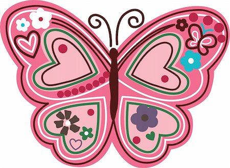 lovely butterfly symbol Stock Photo - Budget Royalty-Free & Subscription, Code: 400-04177544