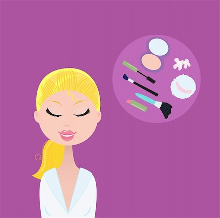 Fashion accesories - makeup, lipstick, mascara, powder, powder sponge etc. Stock Photo - Budget Royalty-Free & Subscription, Code: 400-04177764