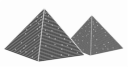 drawing of egypt pyramid in a white background Stock Photo - Budget Royalty-Free & Subscription, Code: 400-04178115