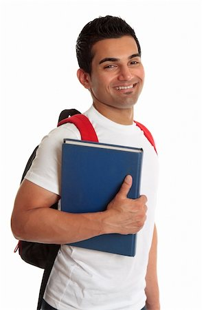 Male ethnic mixed race college or university student, smiling. Stock Photo - Budget Royalty-Free & Subscription, Code: 400-04178112
